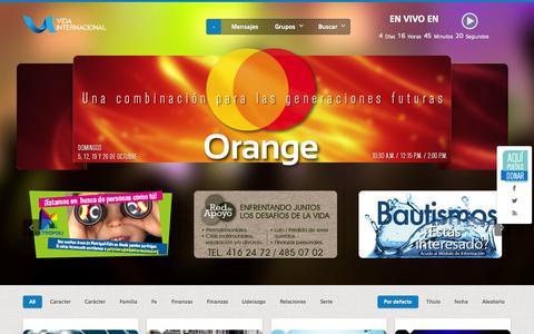 Screenshot of Home Page vidainternacional.org - Vida Internacional - captured Sept. 30, 2014