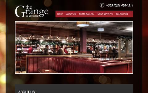 Screenshot of About Page grangebar.com - Bar Douglas- Bar Douglas Cork- Grange Bar Douglas - captured March 6, 2016