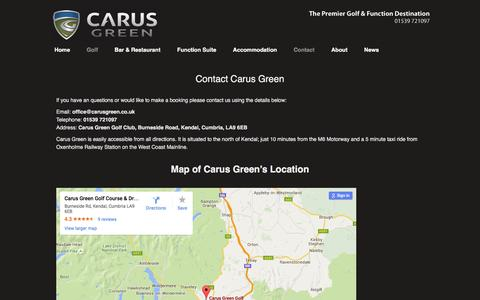 Screenshot of Contact Page carusgreen.co.uk - Contact Carus Green - Carus Green - captured May 14, 2016