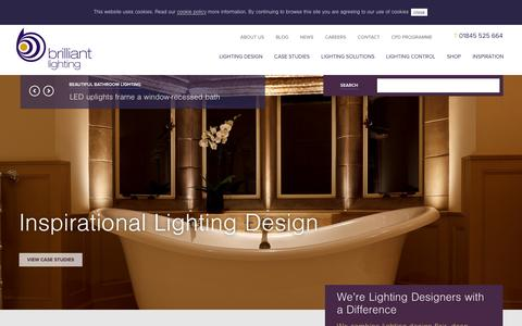 Screenshot of Home Page brilliantlighting.co.uk - We're Lighting Designers with a Difference | Brilliant Lighting - captured Dec. 18, 2015