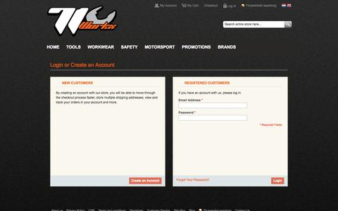 Screenshot of Login Page 71workx.com - Customer Login - captured Nov. 5, 2014