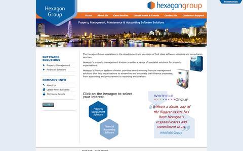 Screenshot of Home Page hexagon.co.uk - Hexagon Software Group - Home - captured Oct. 2, 2014