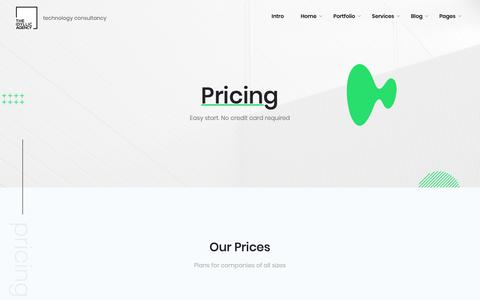 Screenshot of Pricing Page idyllicinteractive.com - Unlimited - UI Kit Webflow Website Template - captured Dec. 7, 2018