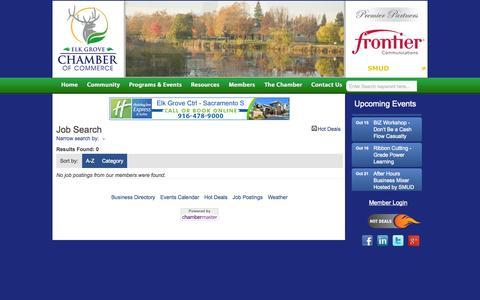 Screenshot of Jobs Page elkgroveca.com - Job Search - Elkgroveca - Elk Grove CA Chamber of CommerceElk Grove CA Chamber of Commerce - captured Oct. 2, 2014