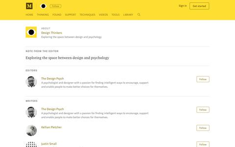 Screenshot of About Page medium.com - About Design Thinkers – Medium - captured Oct. 20, 2018