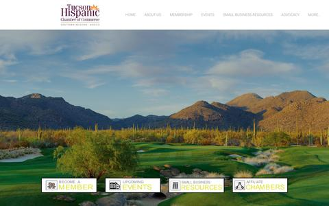 Screenshot of Home Page tucsonhispanicchamber.org - Tucson Hispanic Chamber of Commerce - Splash Page - captured Feb. 16, 2016