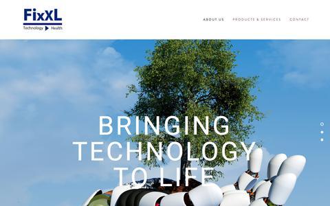 Screenshot of Home Page fixxl.co.uk - Fixxl Ltd Corporate Page - captured Nov. 25, 2016