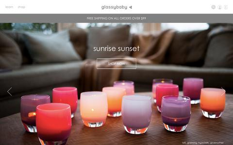 Screenshot of Home Page glassybaby.com - Welcome to Glassybaby - captured July 18, 2018