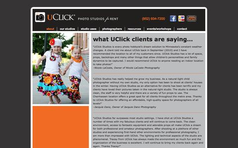 Screenshot of Testimonials Page uclickstudios.com - testimonials | UClick Studios - captured Oct. 3, 2014
