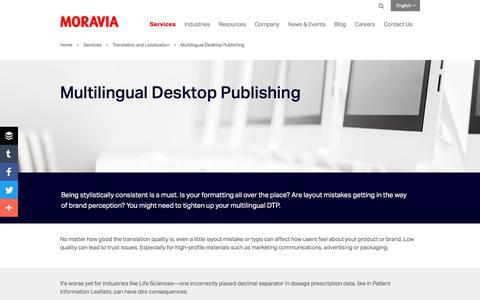 Multilingual Desktop Publishing - Moravia
