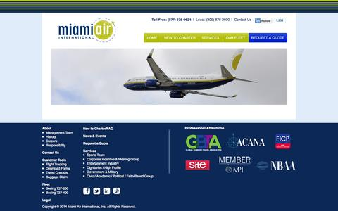 Screenshot of Terms Page miamiair.com - Miami Air International – Charter Airline - captured Oct. 27, 2014