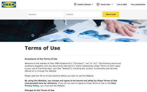 Screenshot of Terms Page ikea.com - IKEA - Terms of use - captured July 23, 2019