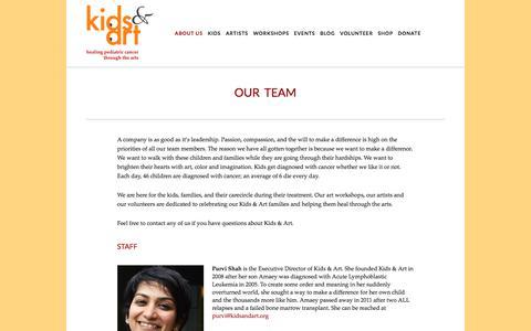 Screenshot of Team Page kidsandart.org - Our Team — Kids and Art Foundation - captured Oct. 17, 2017