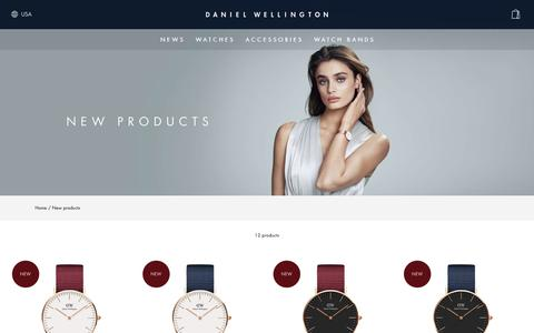 Screenshot of Press Page danielwellington.com - New products - captured May 13, 2018