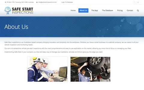 Screenshot of About Page safestartinspections.com - About Us | Safe Start Inspections | Safe Start Inspections - captured Sept. 30, 2014