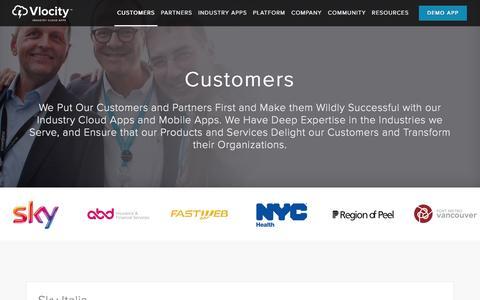 Screenshot of Case Studies Page vlocity.com - Customer | Vlocity - Industry Cloud Apps - captured Feb. 16, 2016