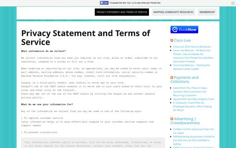 Screenshot of Privacy Page maximumbalancefoundation.com - Privacy Statement - captured Oct. 28, 2014