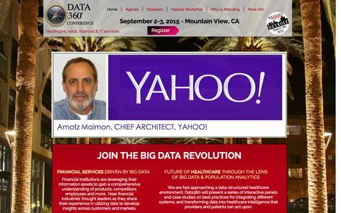 Screenshot of Home Page data-360.com - Data 360 Conference - captured Jan. 29, 2015