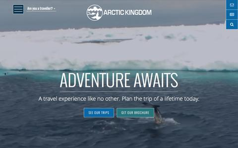 Screenshot of Home Page arctickingdom.com - Arctic Kingdom | Arctic Adventure & Guided Polar Bear Tours - captured May 30, 2017