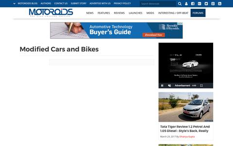 Modified Cars and Bikes | Motoroids