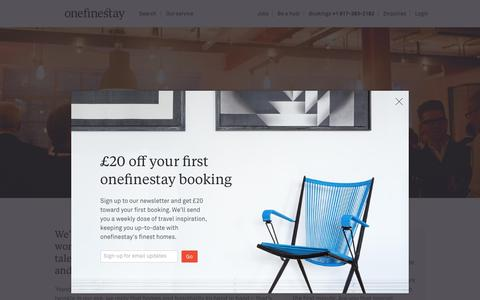 Screenshot of Jobs Page onefinestay.com - Jobs | onefinestay - captured Aug. 28, 2016