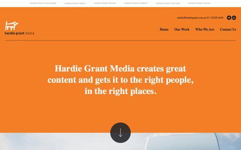 Screenshot of Press Page hardiegrant.com.au - Custom Publisher | Hardie Grant Media | Custom Magazine Publishing | Branded Content Marketing - captured Jan. 16, 2016