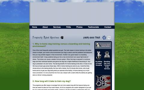Screenshot of FAQ Page civilizedcanine.com - Dog Training FAQ | McKinney, Plano, & Frisco, TX Professional Dog Trainer | Civilized Canine - captured Oct. 31, 2018