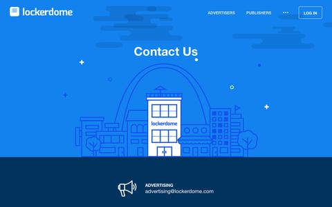 Screenshot of Contact Page lockerdome.com - Contact LockerDome - captured July 13, 2018