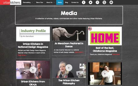 Screenshot of Press Page urbankitchensok.com - Urban Kitchens of oklahoma|   Media - captured Oct. 26, 2014