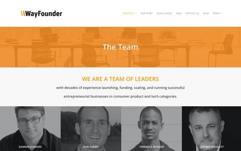 Screenshot of Team Page wayfounder.com - THE TEAM |  WayFounder.com - captured Oct. 1, 2014