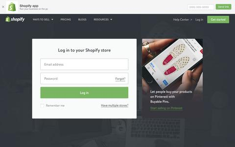 Screenshot of Login Page shopify.com - Login — Shopify - captured Dec. 5, 2016