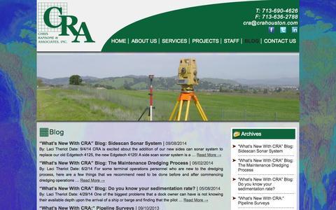 Screenshot of Blog crahouston.com - Blog | CRA Houston - captured Oct. 2, 2014