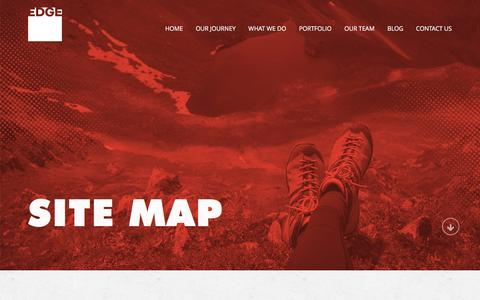 Screenshot of Site Map Page edgecreativesolutions.com - EDGE Creative - Sitemap | EDGE Creative - captured Jan. 23, 2016