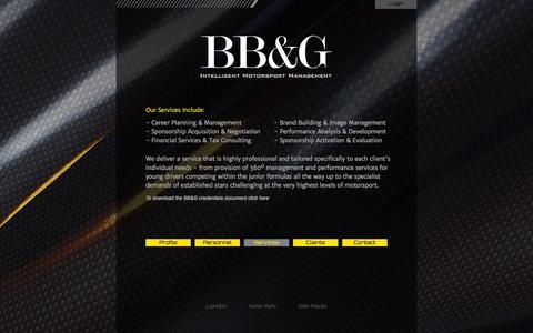 Screenshot of Services Page bancroftbrabhamandgrogan.com - BB&G Intelligent Motorsport Management - captured Oct. 5, 2014