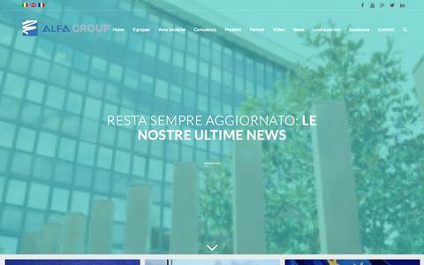 Screenshot of Press Page alfagroup.it - News - captured Oct. 5, 2017