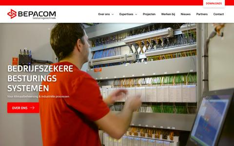 Screenshot of Home Page bepacom.nl - Bedrijfszekere besturingssystemen - Bepacom Besturingstechniek - captured Nov. 13, 2018