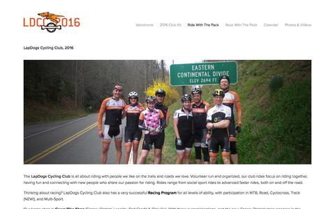Screenshot of Signup Page lapdogs.ca - Sign Up — LapDogs Cycling Club - captured Jan. 26, 2016