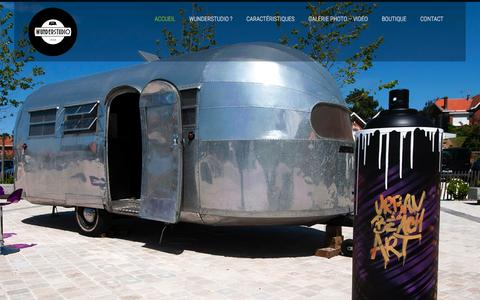 Screenshot of Home Page wunderstudio.fr - Wunderstudio | Le Wunderstudio, premier studio photo mobile embarqu� dans une caravane Airstream Liner de 1948. - captured Jan. 11, 2016