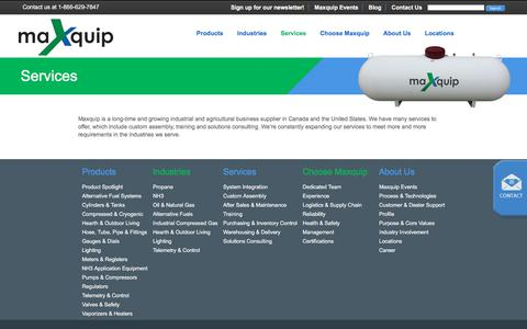 Screenshot of Services Page maxquip.ca - Industrial and Agricultural Business Supplier | Maxquip - captured Oct. 17, 2017