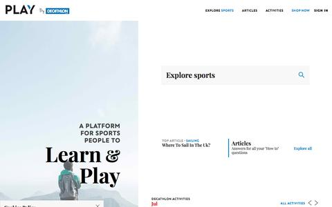 Screenshot of Blog decathlon.co.uk - Decathlon   Expert Sports Advice from Active People - captured July 20, 2019