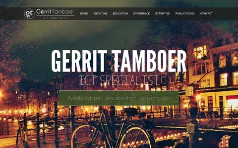 Screenshot of Home Page Contact Page gerrit-tamboer.net - Gerrit Tamboer   ICT Specialist - captured Oct. 2, 2014