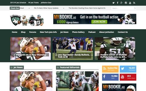 Screenshot of Home Page jetnation.com - JetNation.com — New York Jets Blog and Forum - captured Nov. 10, 2015