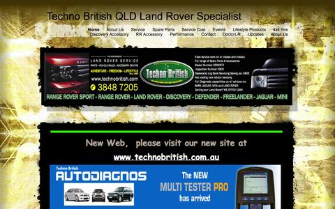 Screenshot of Home Page technobritish.com - Techno British Qld - Land Rover Specialist  - Home - captured Oct. 7, 2014