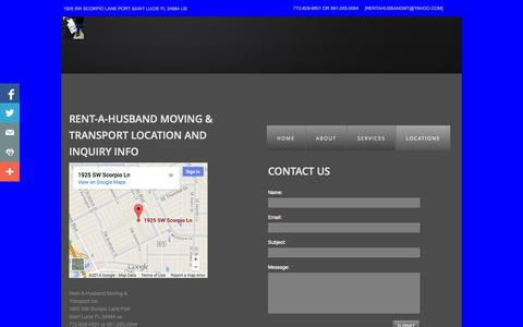 Screenshot of Privacy Page Locations Page rentahusbandmt.com - Rent-a-husband Moving & Transport in Port St Lucie, Fl - captured Oct. 26, 2014