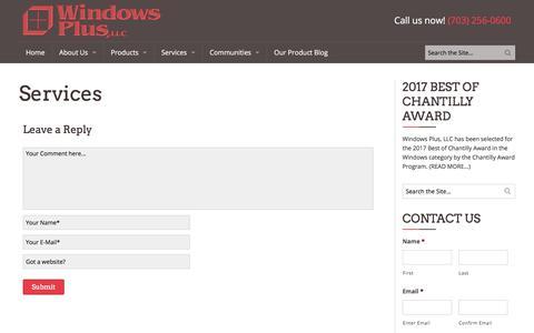 Screenshot of Services Page windowspls.com - Services | Windows Plus - captured Oct. 21, 2017