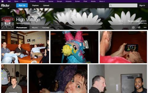 Screenshot of Flickr Page flickr.com - Flickr: HighVoltageSoftware's Photostream - captured Oct. 22, 2014