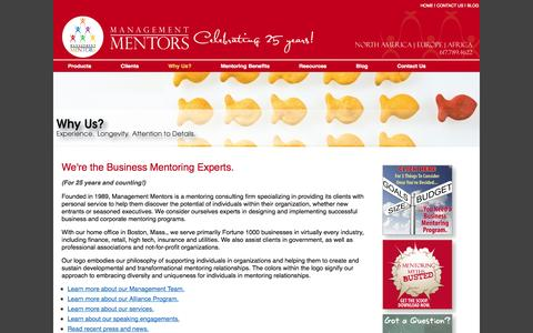Screenshot of About Page management-mentors.com - Business Mentoring Experts – Management Mentors - captured Sept. 19, 2014