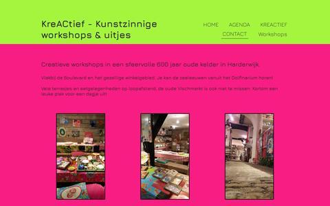 Screenshot of About Page kreactief.nl - Kreactief creatieve workshops  Harderwijk vanaf 2 personen - captured Sept. 20, 2018