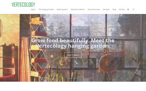 Screenshot of Home Page vertecology.com - Home 2.0 - Vertecology - captured Oct. 6, 2014