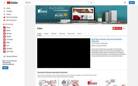 Esker  - YouTube